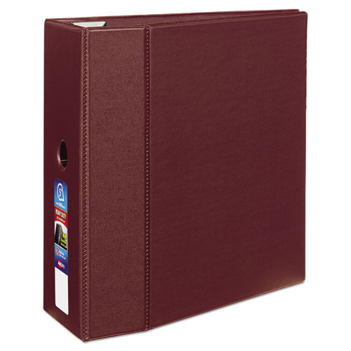HEAVY-DUTY NON-VIEW BINDER WITH DURAHINGE, THREE LOCKING ONE TOUCH EZD RINGS AND THUMB NOTCH, 5