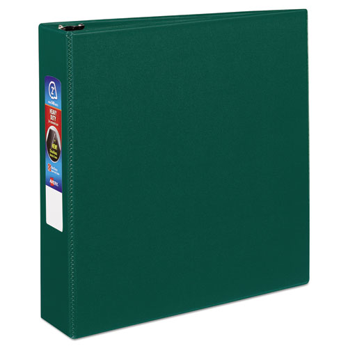 HEAVY-DUTY NON-VIEW BINDER WITH DURAHINGE AND ONE TOUCH EZD RINGS, 3 RINGS, 2