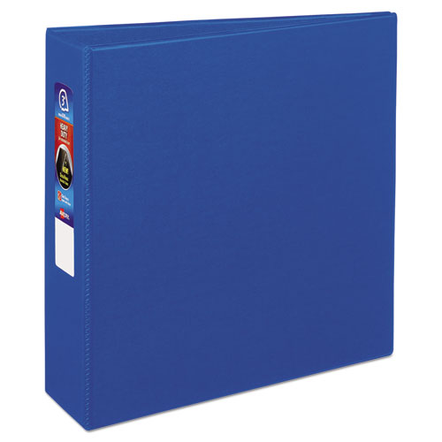 HEAVY-DUTY NON-VIEW BINDER WITH DURAHINGE AND LOCKING ONE TOUCH EZD RINGS, 3 RINGS, 3