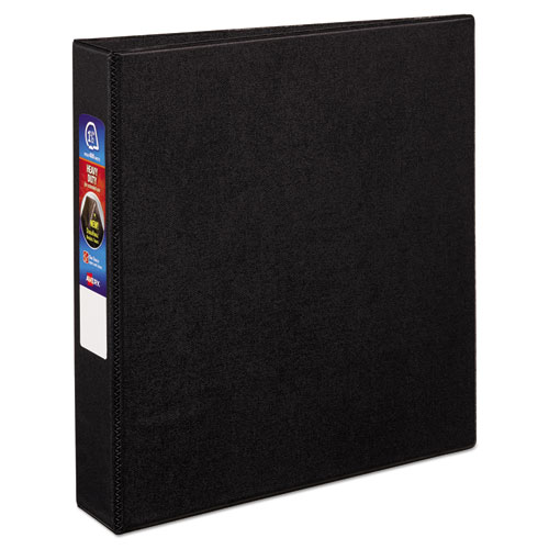 HEAVY-DUTY NON-VIEW BINDER WITH DURAHINGE AND ONE TOUCH EZD RINGS, 3 RINGS, 1.5
