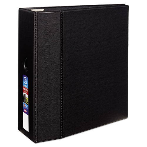 HEAVY-DUTY NON-VIEW BINDER WITH DURAHINGE, LOCKING ONE TOUCH EZD RINGS AND THUMB NOTCH, 3 RINGS, 5