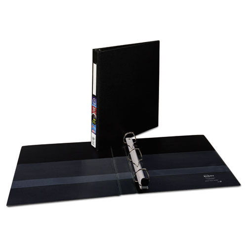 HEAVY-DUTY NON-VIEW BINDER WITH DURAHINGE AND ONE TOUCH EZD RINGS, 3 RINGS, 1