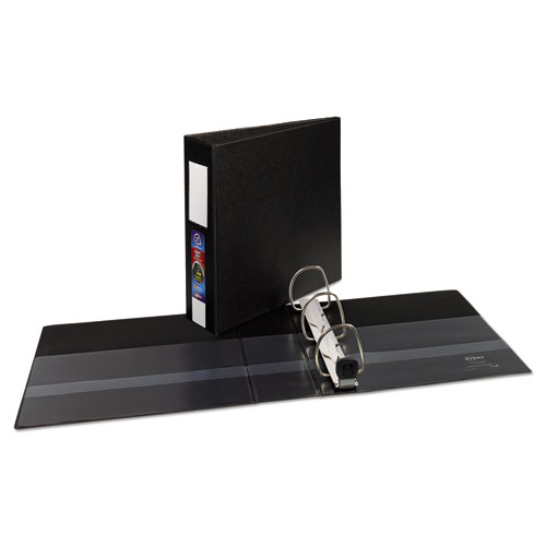 HEAVY-DUTY NON-VIEW BINDER WITH DURAHINGE, THREE LOCKING ONE TOUCH EZD RINGS AND SPINE LABEL, 3