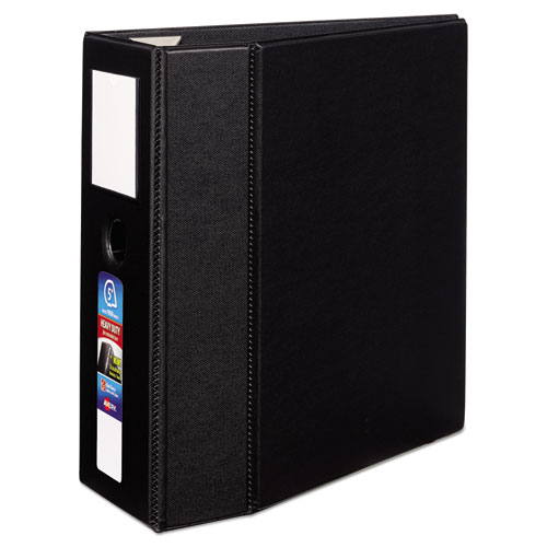 HEAVY-DUTY NON-VIEW BINDER, DURAHINGE, THREE LOCKING ONE TOUCH EZD RINGS, SPINE LABEL, THUMB NOTCH, 5