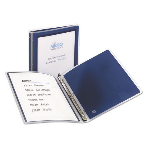 FLEXI-VIEW BINDER WITH ROUND RINGS, 3 RINGS, 0.5
