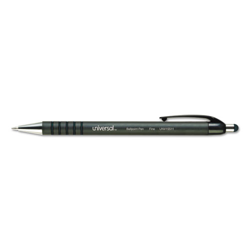 RETRACTABLE BALLPOINT PEN, MEDIUM 1MM, BLUE INK/BARREL, DOZEN