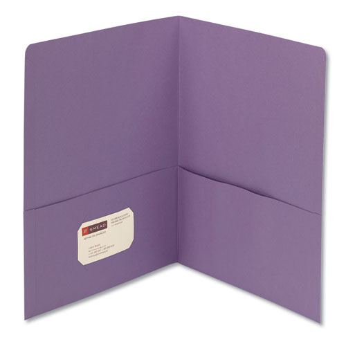 Two-Pocket Folder, Textured Paper, Lavender, 25/box