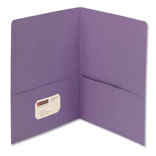 Two-Pocket Folder, Textured Paper, Lavender, 25/box