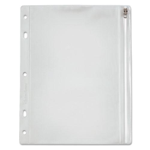 Zippered Ring Binder Pocket, 10 1/2 X 8, Clear
