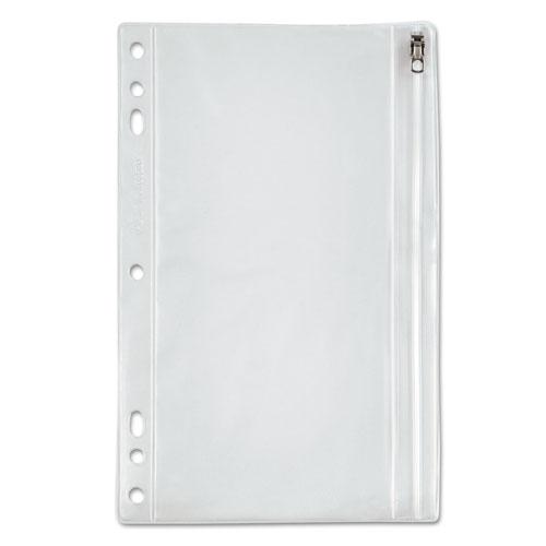 Zippered Ring Binder Pocket, 9 1/2 X 6, Clear