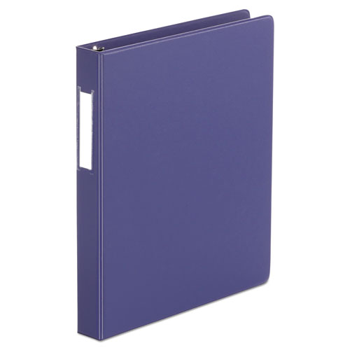 DELUXE NON-VIEW D-RING BINDER WITH LABEL HOLDER, 3 RINGS, 1