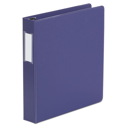 DELUXE NON-VIEW D-RING BINDER WITH LABEL HOLDER, 3 RINGS, 1.5