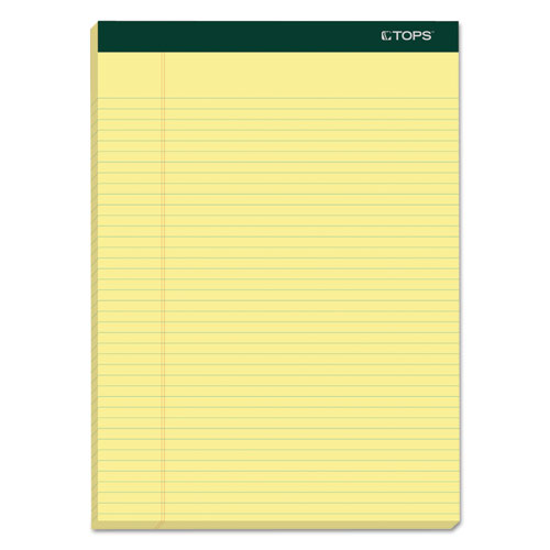 DOUBLE DOCKET RULED PADS, NARROW RULE, 8.5 X 11.75, CANARY, 100 SHEETS, 6/PACK