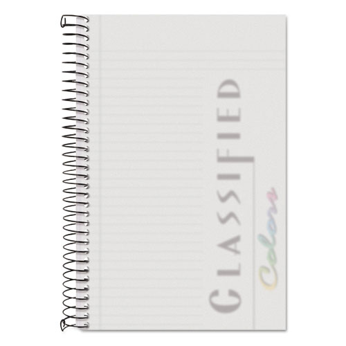 COLOR NOTEBOOKS, 1 SUBJECT, NARROW RULE, FROSTED COVER, 8.5 X 5.5, 100 SHEETS