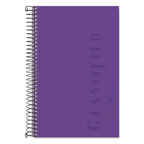 COLOR NOTEBOOKS, 1 SUBJECT, NARROW RULE, ORCHID COVER, 8.5 X 5.5, 100 SHEETS