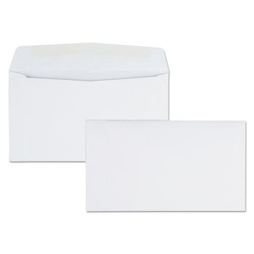 BUSINESS ENVELOPE, #6 3/4, COMMERCIAL FLAP, GUMMED CLOSURE, 3.63 X 6.5, WHITE, 500/BOX