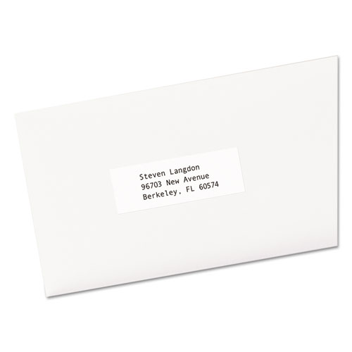 COPIER MAILING LABELS, COPIERS, 1 X 2.81, WHITE, 33/SHEET, 500 SHEETS/BOX