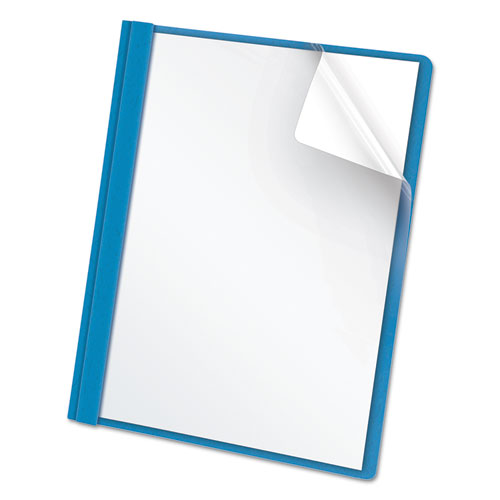 Clear Front Report Cover, 3 Fasteners, Letter, 1/2