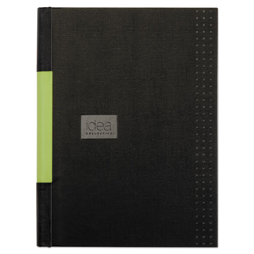 IDEA COLLECTIVE PROFESSIONAL CASEBOUND HARDCOVER NOTEBOOK, 8 1/4 X 11 3/4, BLACK