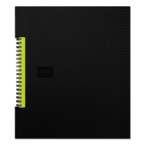 IDEA COLLECTIVE PROFESSIONAL WIREBOUND HARDCOVER NOTEBOOK, 8 1/2 X 11, BLACK