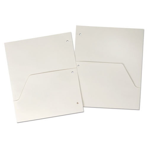 DOUBLE POCKET DIVIDERS FOR RING BINDERS, 11 X 8.5, WHITE, 5/PACK