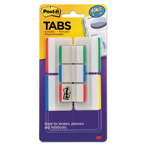 TABS VALUE PACK, 1/5-CUT AND 1/3-CUT TABS, ASSORTED PRIMARY COLORS, 1