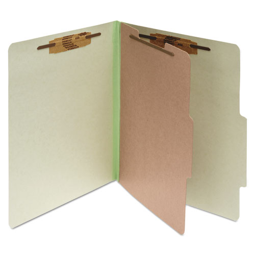 PRESSBOARD CLASSIFICATION FOLDERS, 1 DIVIDER, LETTER SIZE, LEAF GREEN, 10/BOX
