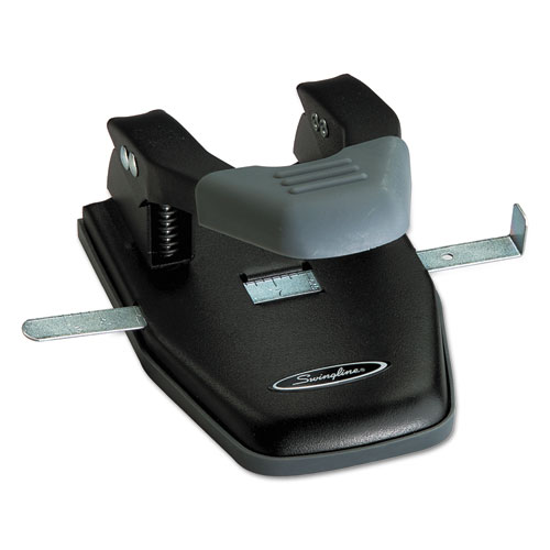 28-Sheet Comfort Handle Steel Two-Hole Punch, 1/4