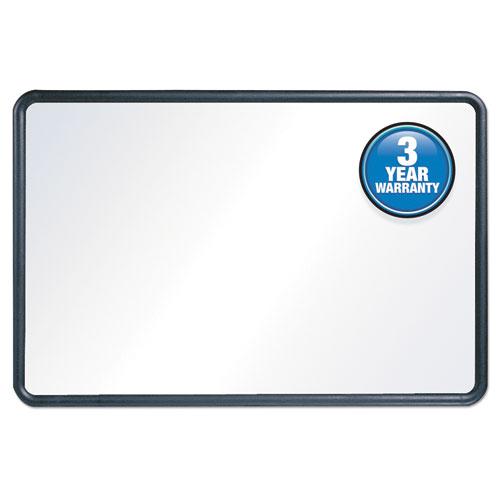 Contour Dry-Erase Board, Melamine, 36 X 24, White Surface, Black Frame