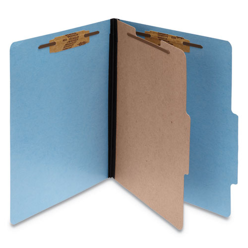 COLORLIFE PRESSTEX CLASSIFICATION FOLDERS, 1 DIVIDER, LETTER SIZE, LIGHT BLUE, 10/BOX