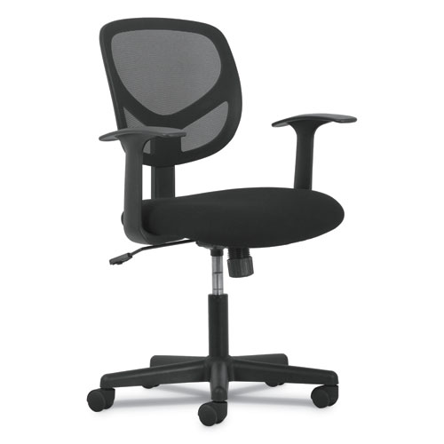Image for 1-OH-TWO MID-BACK TASK CHAIRS, SUPPORTS UP TO 250 LBS., BLACK SEAT/BLACK BACK, BLACK BASE