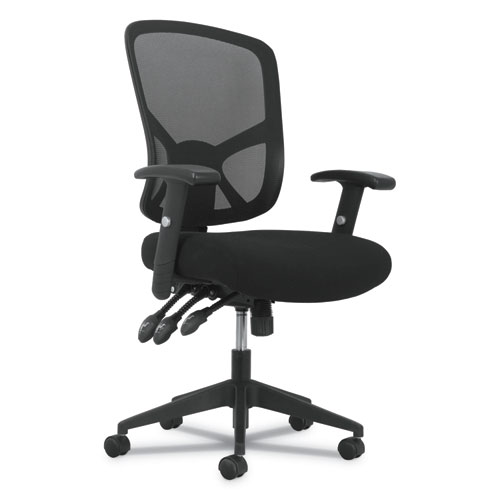 Image for 1-TWENTY-ONE HIGH-BACK TASK CHAIR, SUPPORTS UP TO 250 LBS., BLACK SEAT/BLACK BACK, BLACK BASE