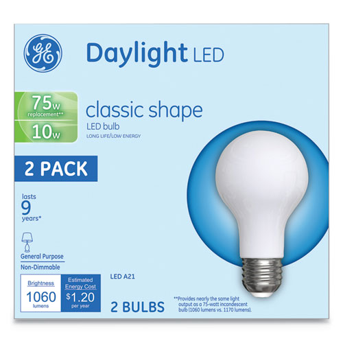 Image for LED CLASSIC DAYLIGHT A21 LIGHT BULB, 10 W, 2/PACK