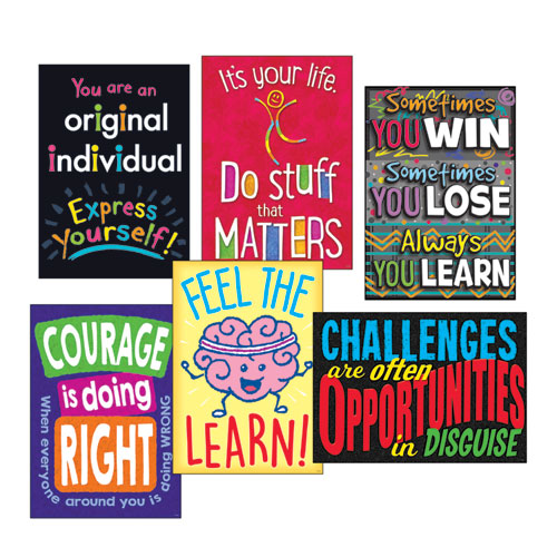 Image for ARGUS POSTER COMBO PACK, 'LIFE LESSONS', 13 3/8W X 19H