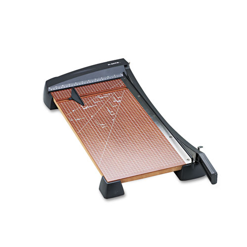 Heavy-Duty Wood Base Guillotine Trimmer, 15 Sheets, 12