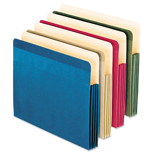 100% RECYCLED COLORED FILE POCKET, 3.5