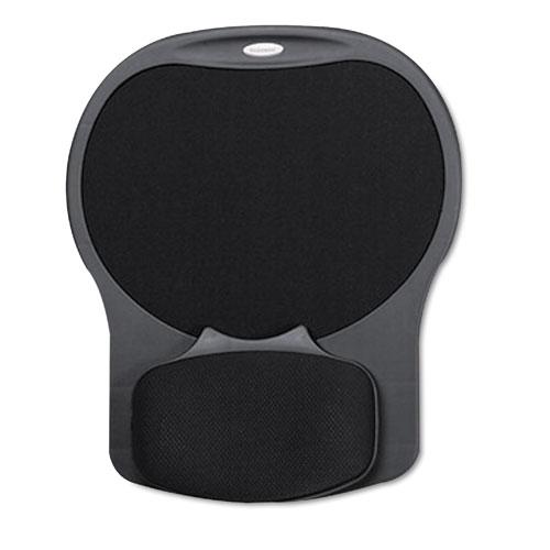 Easy Glide Gel Mouse Pad W/wrist Rest, 10 X 12 X 1 1/2, Black