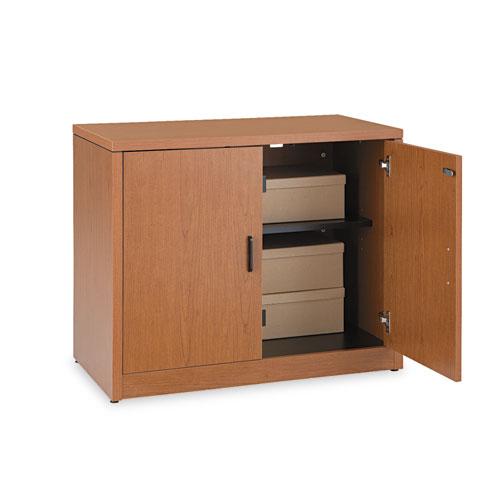Image for 10500 Series Storage Cabinet W/doors, 36w X 20d X 29-1/2h, Bourbon Cherry