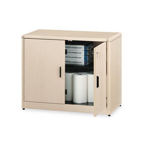 Image for 10700 Series Locking Storage Cabinet, 36w X 20d X 29 1/2h, Natural Maple