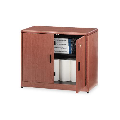 Image for 10700 Series Locking Storage Cabinet, 36w X 20d X 29 1/2h, Bourbon Cherry