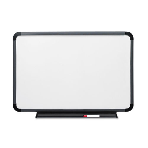 Ingenuity Dry Erase Board, Resin Frame With Tray, 36 X 24, Charcoal