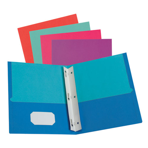 TWISTED TWIN SMOOTH POCKET FOLDER W/FASTENERS, LETTER, ASSORTED, 10/PACK, 20 PACKS/CARTON