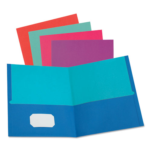 TWISTED TWIN TEXTURED POCKET FOLDERS, LETTER, ASSORTED, 10/PACK, 20 PACKS/CARTON