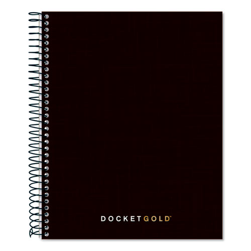 DOCKET GOLD PLANNERS AND PROJECT PLANNERS, NARROW, BLACK, 8.5 X 6.75, 70 SHEETS