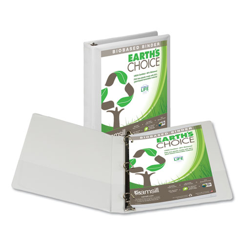 EARTH'S CHOICE BIOBASED D-RING VIEW BINDER, 3 RINGS, 1