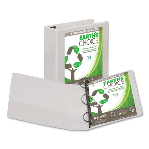 EARTH'S CHOICE BIOBASED D-RING VIEW BINDER, 3 RINGS, 3
