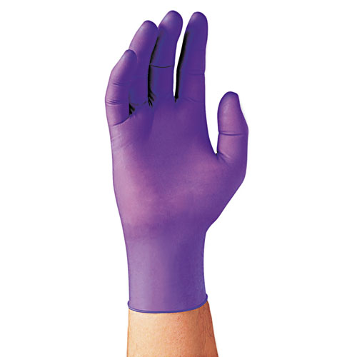 Purple Nitrile Exam Gloves, 242 Mm Length, Large, Purple, 100/box