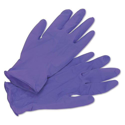 Purple Nitrile Exam Gloves, 242 Mm Length, Medium, Purple, 1000/carton