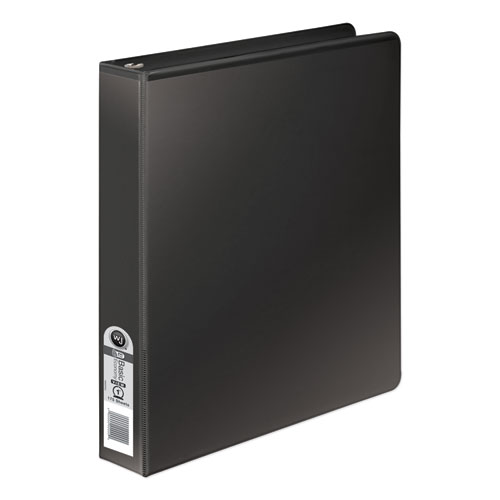Wilsonjnes 368 Basic Round Ring Binder, 1 Cap, Black