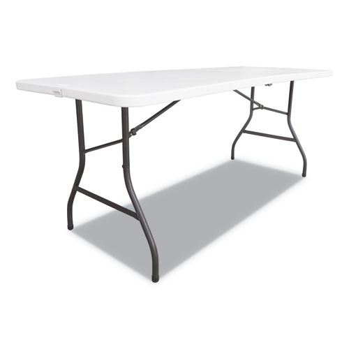 Image for FOLD-IN-HALF RESIN FOLDING TABLE, 60W X 29 5/8D X 29 1/4H, WHITE
